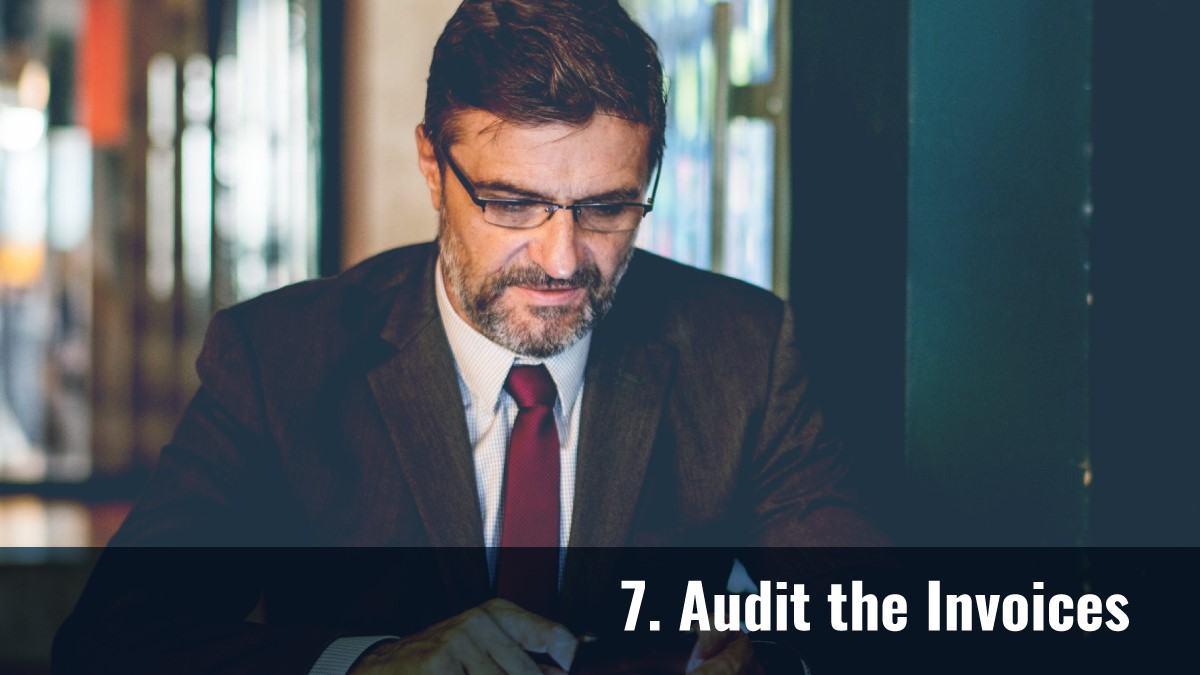 Audit the Invoices