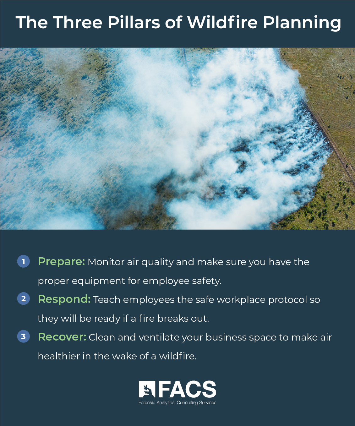 Three Pillars of Wildfire Planning