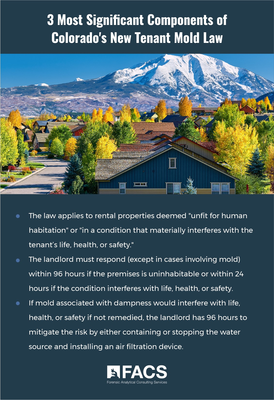 3 Most Significant Components of Colorado's New Tenant Mold Law