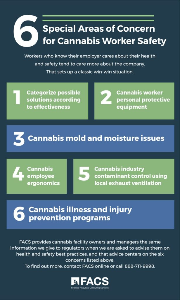 6 Special Areas of Concern for Cannabis Worker Safety