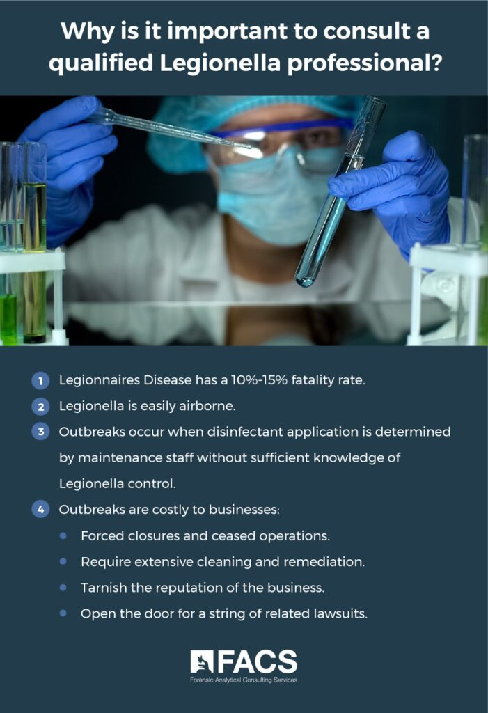 Why it's important to consult qualified Legionella professional infographic